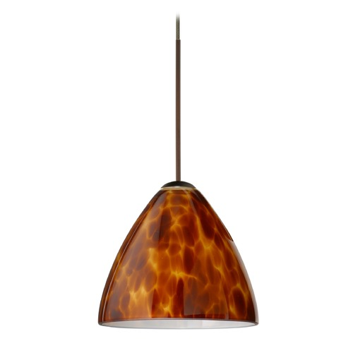 Besa Lighting Besa Lighting Mia Bronze Mini-Pendant Light with Bell Shade 1XT-177918-BR