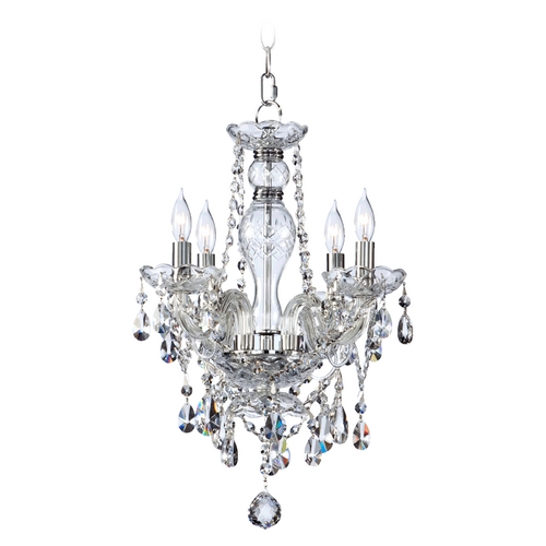 Quorum Lighting Quorum Lighting Bohemian Katerina Chrome Crystal Chandelier 630-4-514