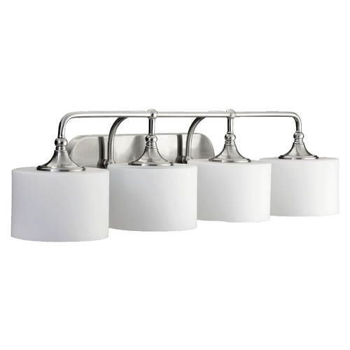 Quorum Lighting Quorum Lighting Rockwood Satin Nickel Bathroom Light 5090-4-65