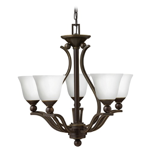 Hinkley Lighting Hinkley Bolla 5-Light Chandelier in Olde Bronze 4655OB-OPAL