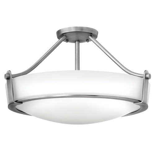 Hinkley Lighting Hinkley Lighting Hathaway Antique Nickel Semi-Flushmount Light 3221AN-GU24
