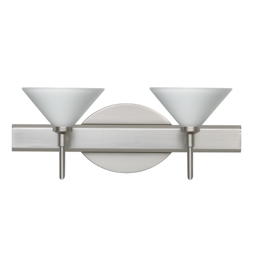 Besa Lighting Besa Lighting Kona Satin Nickel LED Bathroom Light 2SW-117607-LED-SN