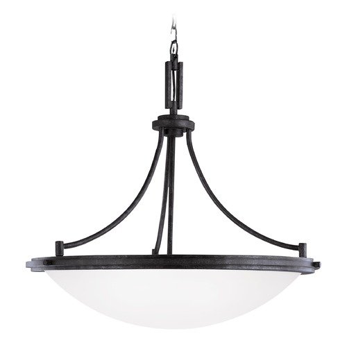 Sea Gull Lighting Sea Gull Lighting Winnetka Blacksmith LED Pendant Light with Bowl / Dome Shade 65662EN3-839