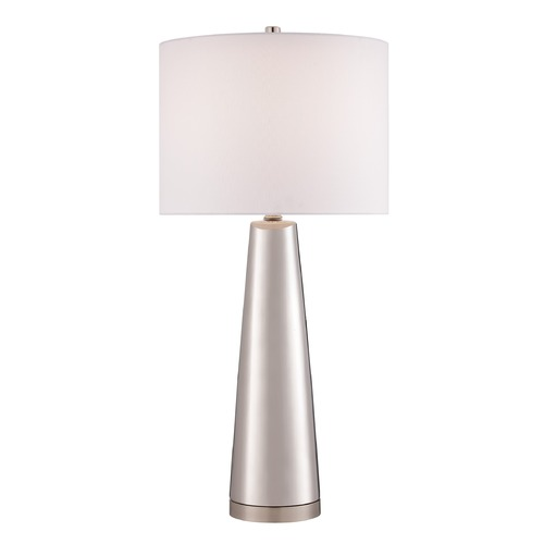 Lite Source Lighting Lite Source Tyrone Silver Table Lamp with Drum Shade LS-23200SILV
