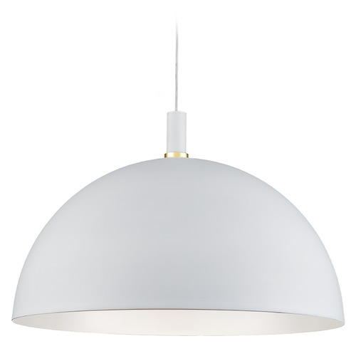 Kuzco Lighting Kuzco Lighting Archibald White / Gold Pendant Light with Bowl / Dome Shade 492332-WH/GD