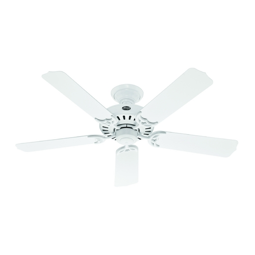 Hunter Fan Company Hunter Fan Company Bridgeport White Ceiling Fan Without Light 53125