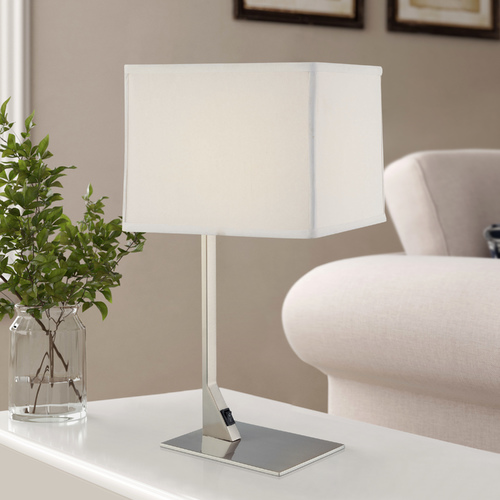 Design Classics Lighting Modern Table Lamp with Rectangular Shade 6090-1-09 / SH7354