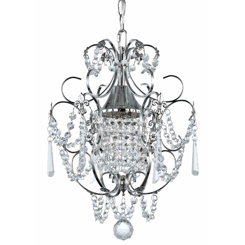 Ashford Classics Lighting Crystal Mini-Chandelier Pendant Light in Chrome Finish 2233-26