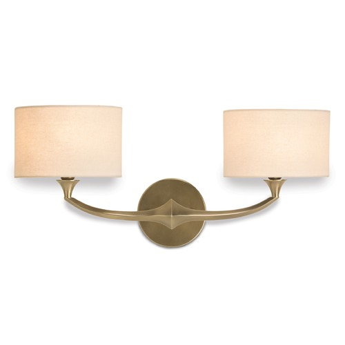Currey and Company Lighting Currey and Company Lighting Bellario Antique Brass Sconce 5171