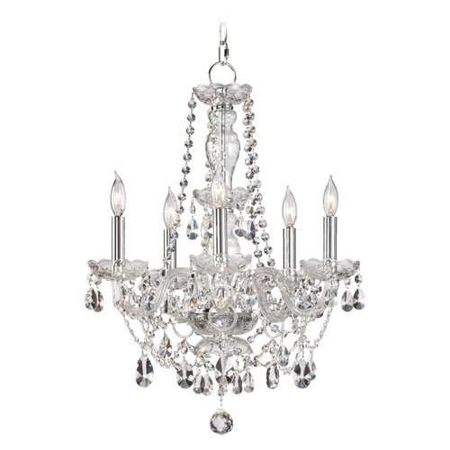 Quorum Lighting Quorum Lighting Bohemian Katerina Chrome Crystal Chandelier 630-5-514