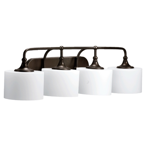 Quorum Lighting Quorum Lighting Rockwood Oiled Bronze Bathroom Light 5090-4-86