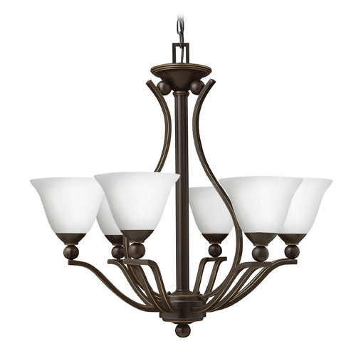 Hinkley Lighting Hinkley Lighting Bolla Olde Bronze Chandelier 4656OB-OPAL