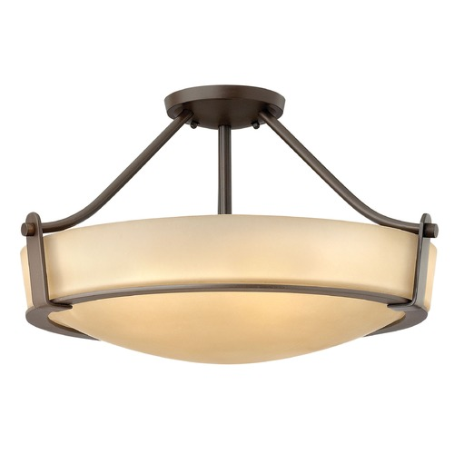 Hinkley Lighting Hinkley Lighting Hathaway Olde Bronze Semi-Flushmount Light 3221OB-GU24