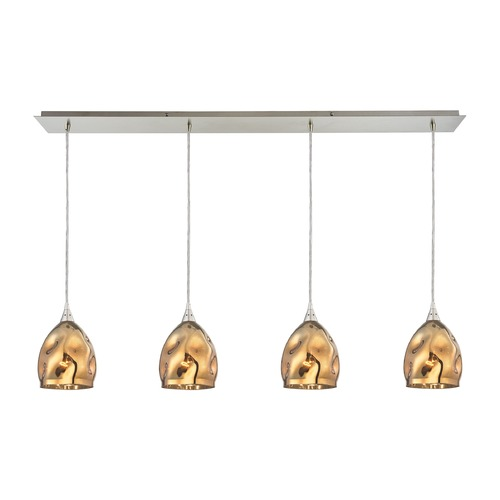 Elk Lighting Elk Lighting Niche Satin Nickel Multi-Light Pendant with Bowl / Dome Shade 31597/4LP