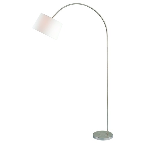 Kenroy Home Lighting Triumph Brushed Steel Arc Lamp with Empire Shade by Kenroy Home 32921BS