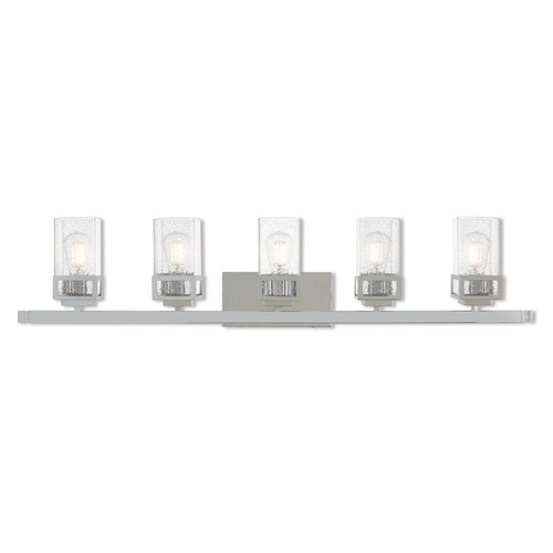 Livex Lighting Seeded Glass Bathroom Light Chrome Livex Lighting 10155-05