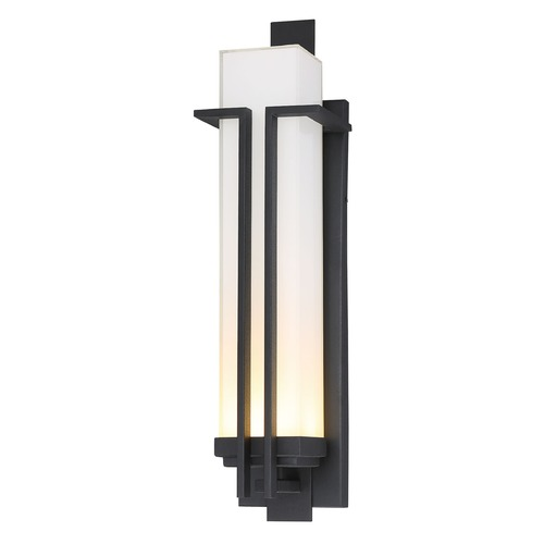 Minka Lavery Minka Lavery Tish Mills Black LED Outdoor Wall Light 72763-66-L