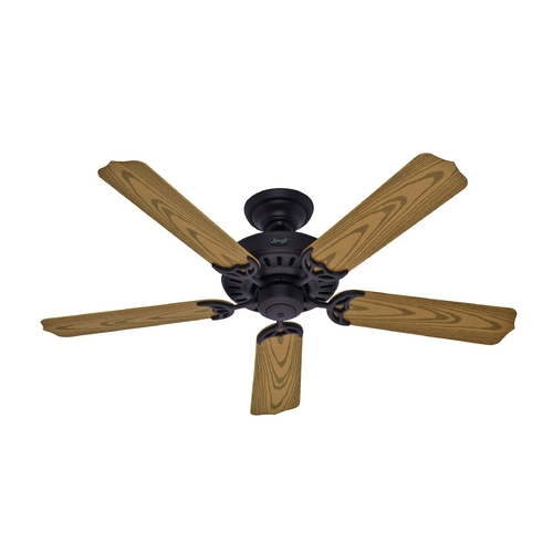 Hunter Fan Company Hunter Fan Company Bridgeport New Bronze Ceiling Fan Without Light 53126