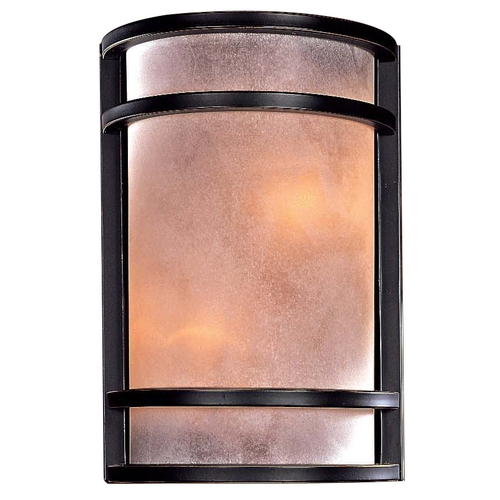 Minka Lavery Wall Sconce with Two Lights in Bronze Finish 345-37B-PL
