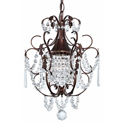 Ashford Classics Lighting Crystal Mini-Chandelier Pendant Light in Bronze Finish 2233-220