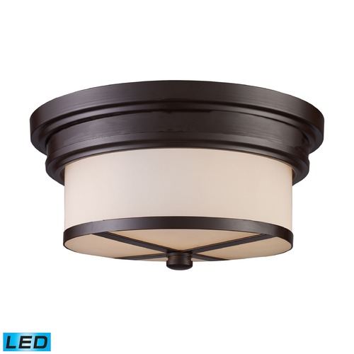 Elk Lighting Elk Lighting Flushmounts Oiled Bronze LED Flushmount Light 15025/2-LED