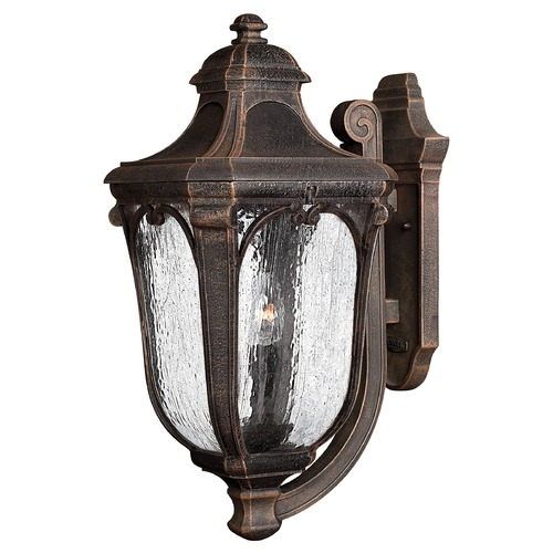 Hinkley Lighting Outdoor Wall Light with Clear Glass in Mocha Finish 1315MO