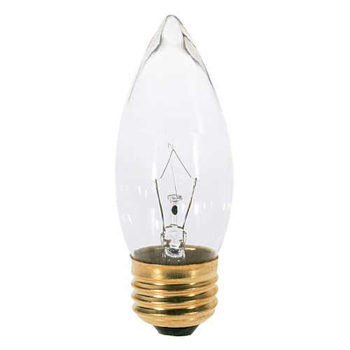 Satco Lighting Incandescent Flame Light Bulb Medium Base 120V by Satco S3232