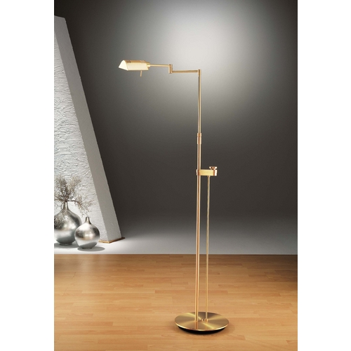 Holtkoetter Lighting Holtkoetter Modern Floor Lamp in Brushed Brass Finish 6317SLD BB