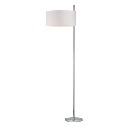 Dimond Lighting Modern LED Floor Lamp with White Shades in Polished Nickel Finish D2473-LED
