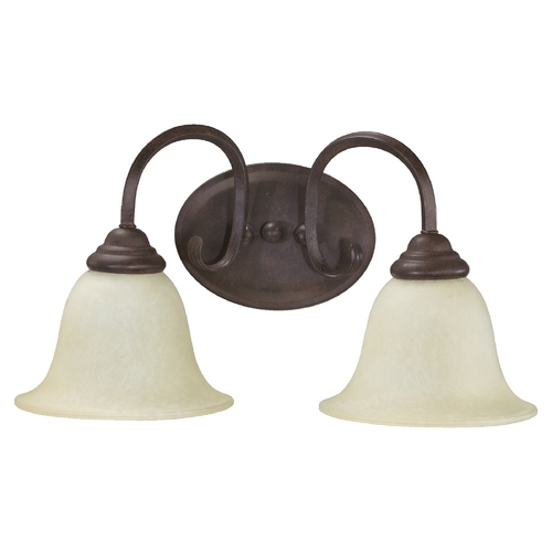 Quorum Lighting Quorum Lighting Spencer Toasted Sienna Bathroom Light 5110-2-44