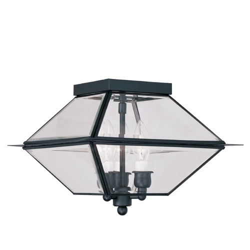 Livex Lighting Livex Lighting Westover Black Close To Ceiling Light 2185-04