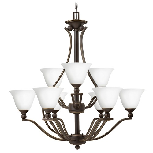 Hinkley Lighting Hinkley Bolla 2-Tier 9-Light Chandelier in Olde Bronze 4657OB-OPAL