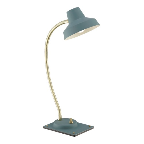 Quoizel Lighting Quoizel Lighting Quoizel Portable Lamp Blue Table Lamp with Bowl / Dome Shade Q2313T