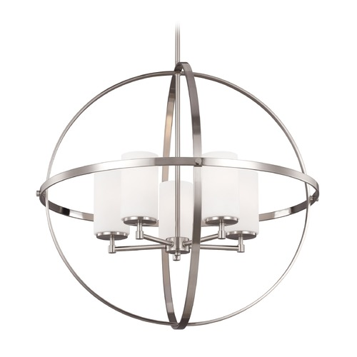 Sea Gull Lighting Sea Gull Alturas Brushed Nickel Chandelier 3124605-962