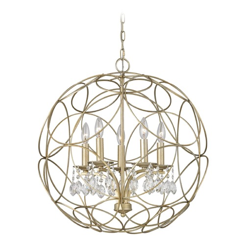 Elk Lighting Elk Lighting Chandette Aged Silver Chandelier 31806/5