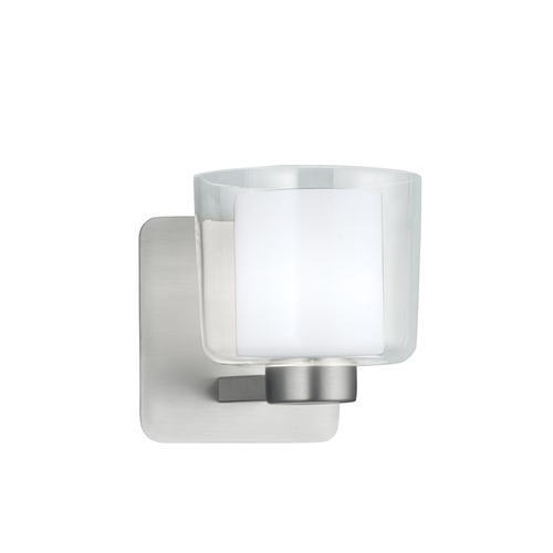 Norwell Lighting Norwell Lighting Alexus Brush Nickel Sconce 5331-BN-CL