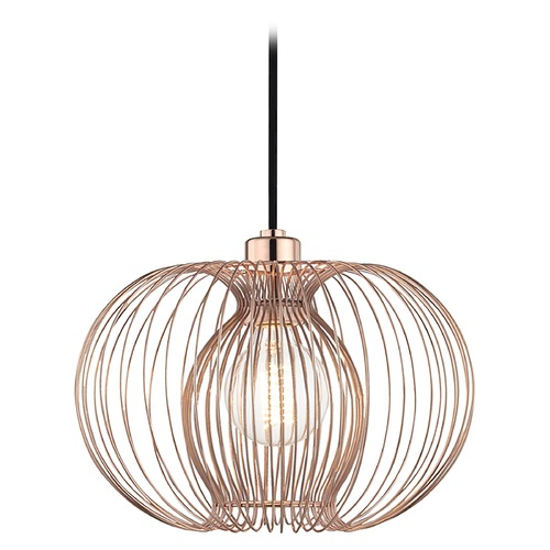 Mitzi by Hudson Valley Mid-Century Modern Pendant Light Oval Shade Copper Mitzi Jasmine by Hudson Valley H181701S-POC