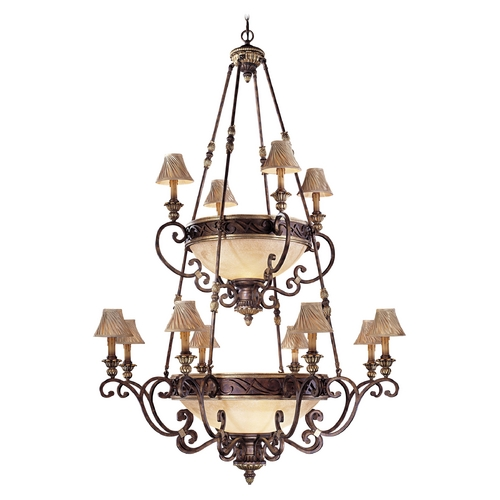 Metropolitan Lighting Old World Chandelier with Scavo Glass - Lamp Shades Not Included N6129-355
