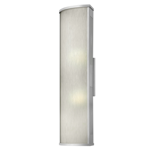 Hinkley Lighting Outdoor Wall Light with White Glass in Titanium Finish 2115TT-GU24