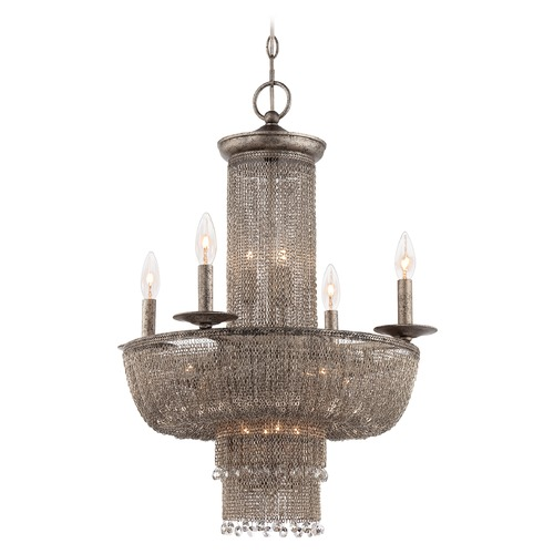 Metropolitan Lighting Shimmering Falls Antique Silver Chandelier N7215-578