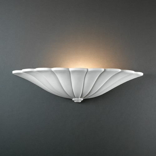 Justice Design Group Sconce Wall Light in Bisque Finish CER-1495-BIS