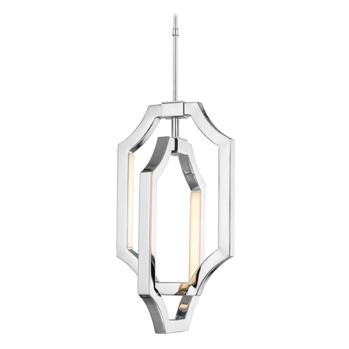 Feiss Lighting Feiss Lighting Audrie Polished Nickel LED Mini-Pendant Light P1325PN