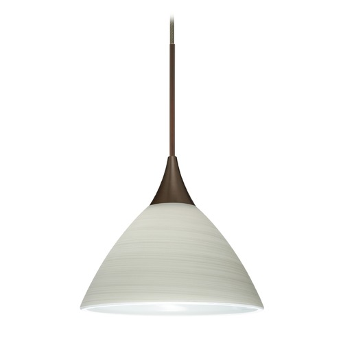 Besa Lighting Besa Lighting Domi Bronze LED Mini-Pendant Light with Bell Shade 1XT-1743KR-LED-BR