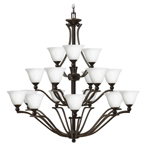 Hinkley Lighting Hinkley Lighting Bolla Olde Bronze Chandelier 4659OB-OPAL