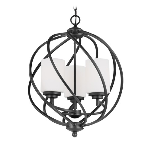 Sea Gull Lighting Sea Gull Goliad Blacksmith Pendant Light with Cylindrical Shade 5125203-839