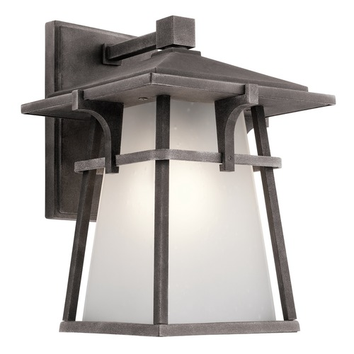 Kichler Lighting Kichler Lighting Beckett Weathered Zinc LED Outdoor Wall Light 49721WZCL16