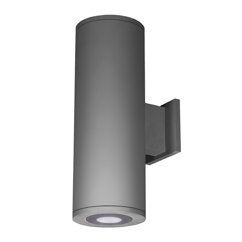 WAC Lighting 6-Inch Graphite LED Ultra Narrow Tube Architectural Up and Down Wall Light 2700K 360LM DS-WD06-U27B-GH