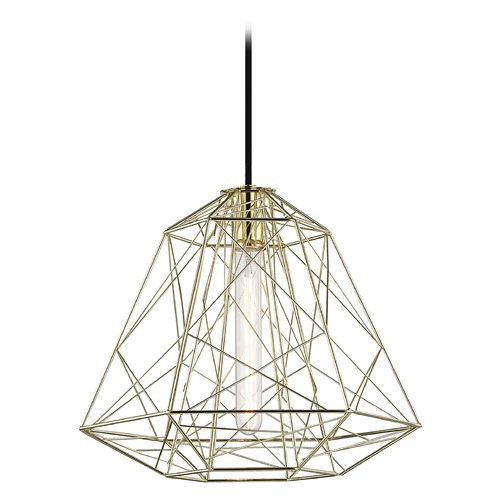Mitzi by Hudson Valley Industrial Pendant Light Brass Mitzi Ani by Hudson Valley H182701-PB