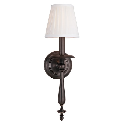 Hudson Valley Lighting Sconce Wall Light with White Shade in Old Bronze Finish 431-OB