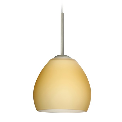 Besa Lighting Besa Lighting Bolla Satin Nickel Mini-Pendant Light 1BT-4122VM-SN